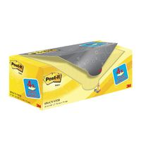Canary Yellow 76 x 76mm Post-it Notes, Pack of 20 - 654CY-VP20