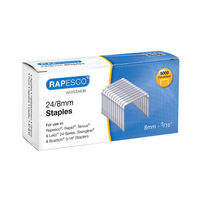 View more details about Rapesco No.24 / 8mm Metal Staples, Pack of 5000 - S24802Z3