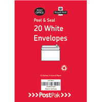 PostPak White C6 Peel and Seal Envelopes 80gsm, Pack of 520 - 9730813