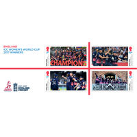 The England ICC Women's World Cup 2017 Winners Miniature Sheet