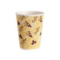 4Aces 12oz Ripple Red Bean Paper Cups, Pack of 500 – HHRWPA12