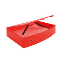 Q-Connect Red Foolscap Polypropylene Box File - KF04104
