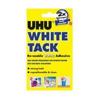UHU 62g Handy White Tack, Pack of 12 - 42196