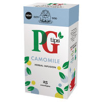 PG Tips Camomile Envelope Tea Bags, Pack of 25 - 49095901