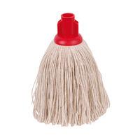 2Work 12oz Twine Rough Socket Mop, Red (Pack of 10) – PJTR1210I