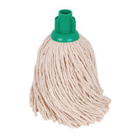 2Work Green 14oz PY Smooth Socket Mop (Pack of 10) PJYG1410I