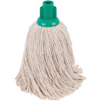 2Work Green 14oz Twine Rough Socket Mops (Pack of 10) PJTG1410I