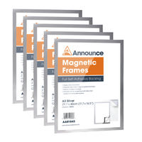 Announce Silver A3 Magnetic Frames (5 Pack) - AA01844