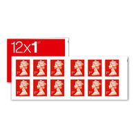 1st Class Stamps x 12 Pack (Postage Stamp Booklet) - SB12F REDSINGLE