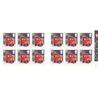1st Class Stamps x 12 Pack (Postage Stamp Book) Christmas 2018 - UB419