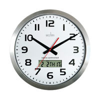 View more details about Acctim Meridian Aluminium Radio Controlled Wall Clock - 74447