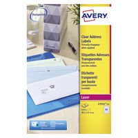 Avery Laser Address Labels, 38.1 x 21.2mm (Pack of 1625) - L7551-25
