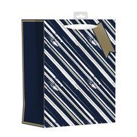 Giftmaker Blue Vertical Stripe Large Gift Bags, Pack of 6 - MGSL