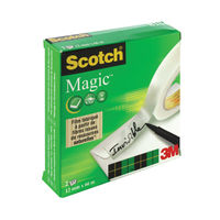 View more details about Scotch Magic Tape 810 12mm x 66m (Pack of 2) 8101266