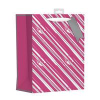 Giftmaker Pink Vertical Stripe Large Gift Bags, Pack of 6 - FCSL
