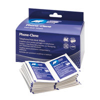 View more details about AF Phone-Clene Telephone Wipe Sachets (Pack of 100) APHC100
