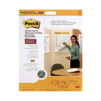View more details about Post-it Table Top Meeting Chart Refill Pad 500 x 580mm, Pack of 2 - 566