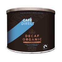 Café Direct Medium Roast Decaffeinated Organic Coffee 500g Tin - TW141002