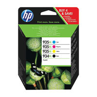 HP 934XL and 935XL High Yield CMYK Original Ink Cartridges (Pack of 4) X4E14AE