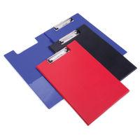 Rapesco Red A4/Foolscap PVC Foldover Clipboard - VFDCB0R3