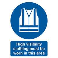 View more details about High Visibility Clothing Must Be Worn A4 PVC Safety Sign - MA02150R