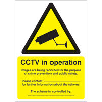 View more details about CCTV Data Protection Act Compliant A5 PVC Warning Sign - DPACCTVR