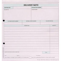 Custom Forms White/Pink/Blue 3-Part Delivery Notes, Pack of 50 - HCD03