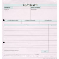 Custom Forms White/Pink 2-Part Delivery Notes, Pack of 50 - HCD02