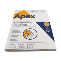 Fellowes Apex A4 Light Duty Laminating Pouches, Pack of 100 - BB58485
