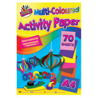 View more details about Art Box Assorted A4 Activity Paper Pads, Pack of 12 - TAL06872