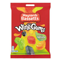 View more details about Maynards Bassetts 165g Wine Gums, Pack of 12 - 4011446