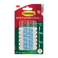 View more details about Command Clear Decorating Clips with Adhesive Strips - 17026H-AW