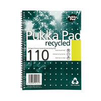 Pukka Pad A4 Wirebound Recycled Notebooks 110 Pages - Pack of 3 - RCA4/110