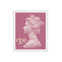 Royal Mail £3.30 Postage Stamps x 25 Pack (Self Adhesive Stamp Sheet)