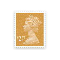 Royal Mail £2.27 Postage Stamps x 25 Pack (Self Adhesive Stamp Sheet)