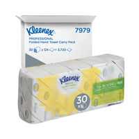 View more details about Kleenex White Ultra Hand Towels, Pack of 5 - 7979