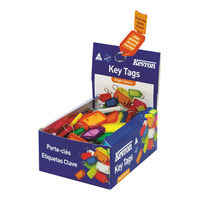 Kevron Plastic Clicktag Assorted Key Tags (Pack of 100) ID5AC100