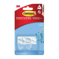 Command Clear Small Hooks with Adhesive Strips - 17092CLR