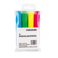 Assorted Hi-Glo Highlighter Pens, Pack of 4 - 7910WT4