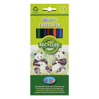 ReCreate Treesaver Recycled Colouring Pencils, Pack of 12 - TREE12COL