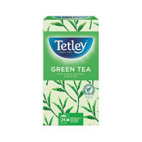 View more details about Tetley Pure Green Tea Bags (Pack of 25)