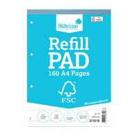 Silvine A4 Everyday FSC Notebook Refill Pads - Pack of 5 - FSCRP80