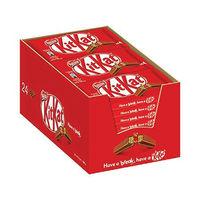 Nestle Four Finger Milk Chocolate KitKats, Pack of 24 - 12351222