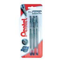 Pentel Blue 0.7mm Superb Ballpoint Pens, Pack of 18 - XBK77/3-A