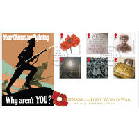 Centenary of the Great War 2014 Stamps First Day Cover - BC510