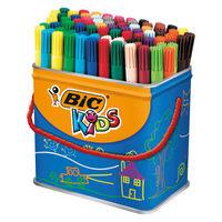 View more details about Bic Kids Visa Felt Pens Fine Tip Assorted (Pack of 84) 829013
