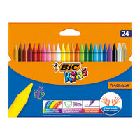 Bic Plastidecor Crayons (Pack of 24) - 8297721