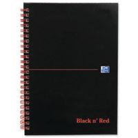 Black n Red A5+ Wirebound Matt Notebooks - Pack of 5 - 100080154
