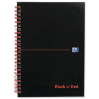 View more details about Black n Red A5+ Wirebound Matt Notebooks - Pack of 5 - 100080154