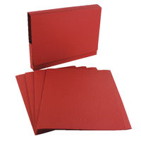 Guildhall Foolscap/A4 Square Cut Red Folders 315gsm - Pack of 100 - FS315-RED